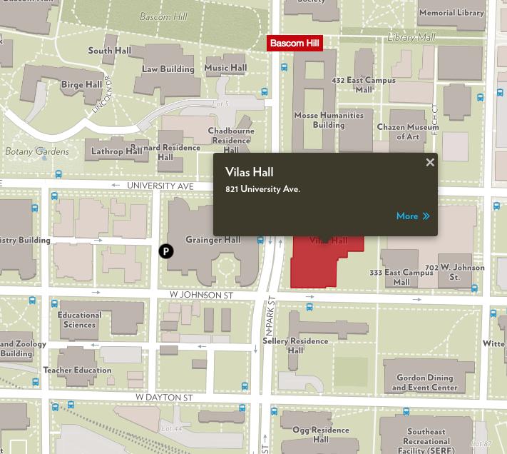 UW–Madison campus map.