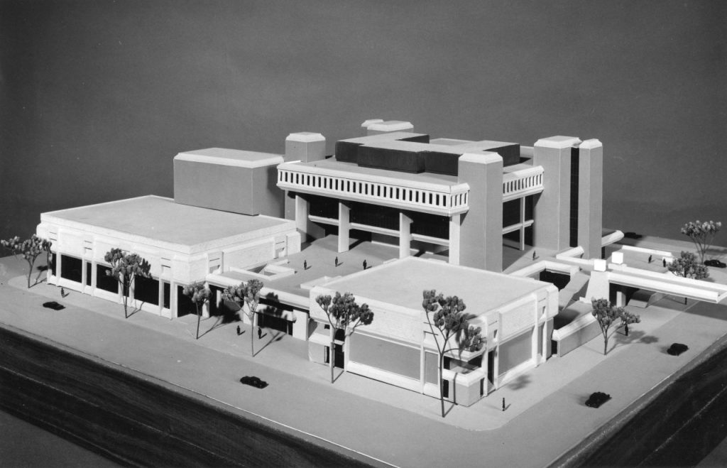 A model of Vilas Hall before it was built.