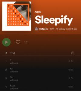 Sleepify, album by Vulfpeck